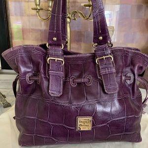 Rare Duney & Bourke purple alligator bag